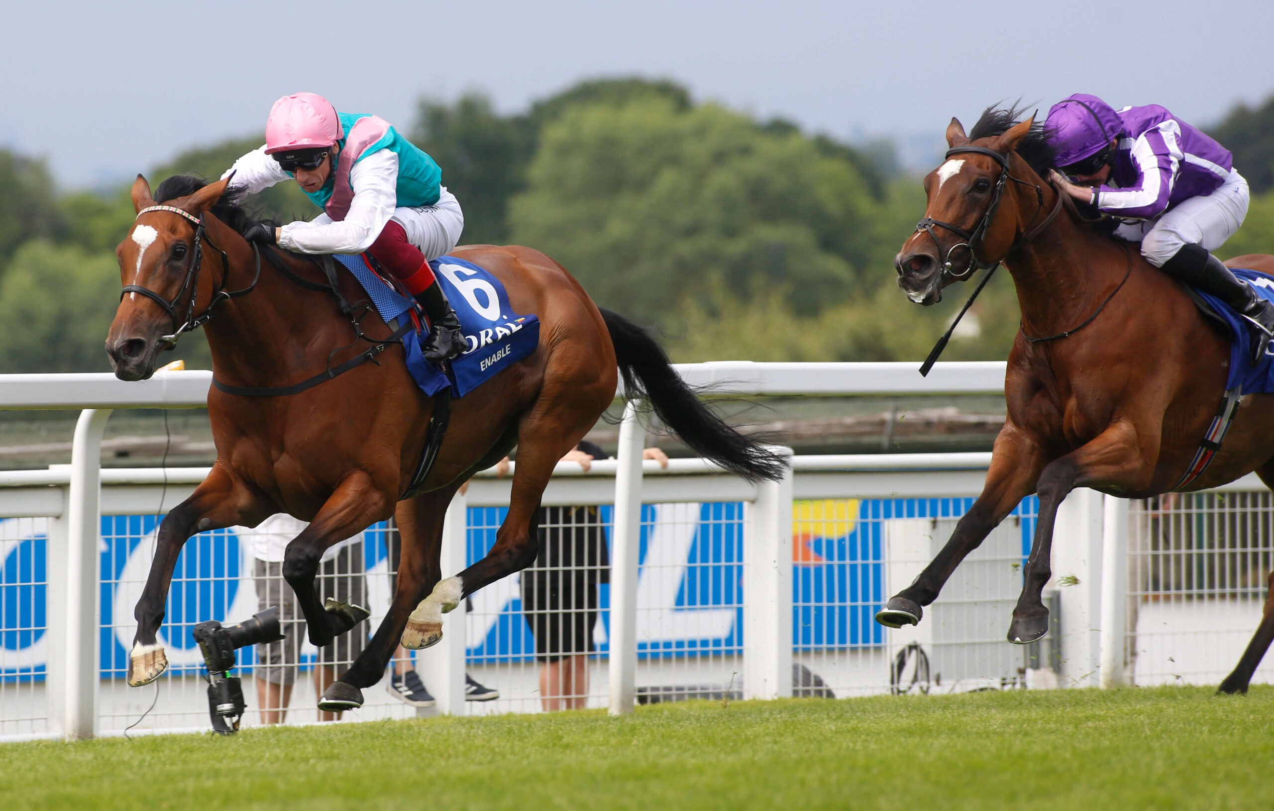 Enable will make her return to racing at the Coral-Eclipse at Sandown.