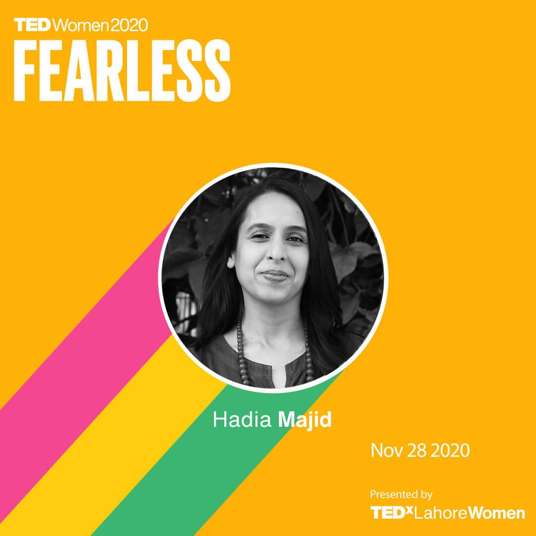 HadiaMajid-TEDxLahoreWomen