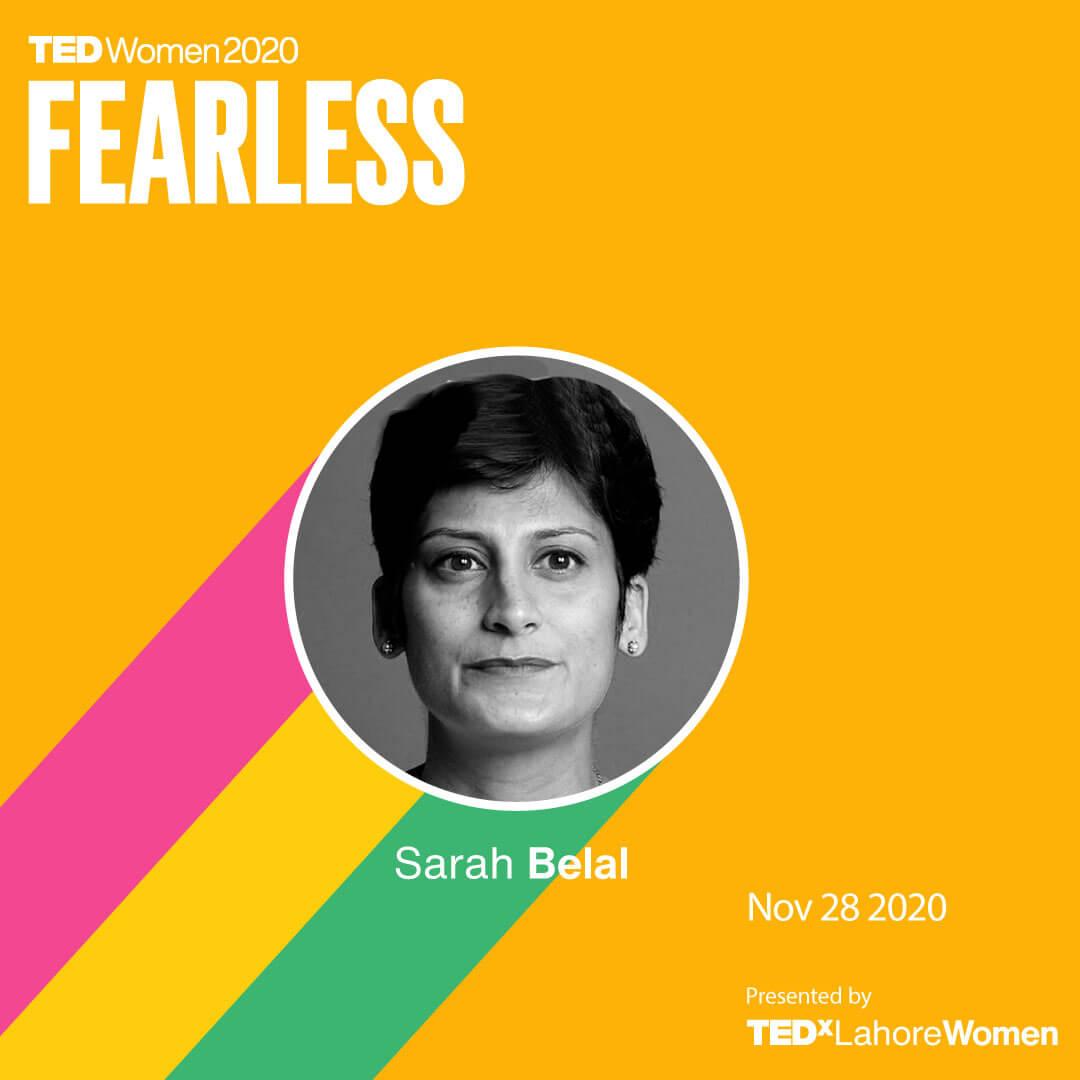 SarahBelal-TEDxLahoreWomen