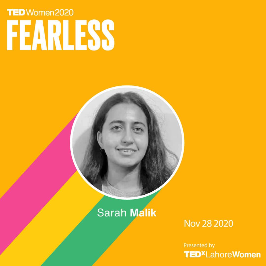 SarahMalik-TEDxLahoreWomen