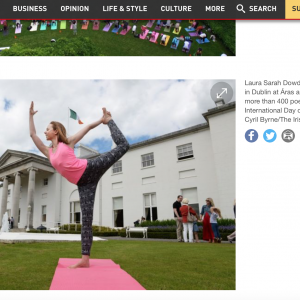 international yoga day in ireland healingyoga meets the president