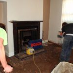 digging up the scree! (front room)