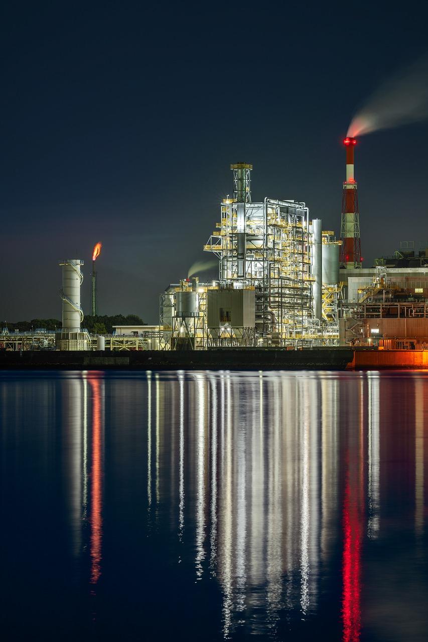 night view, plant, thermal power plant-6212073.jpg