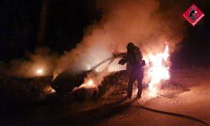La rápida actuación de los bomberos evita un incendio en un pinar de Campoamor