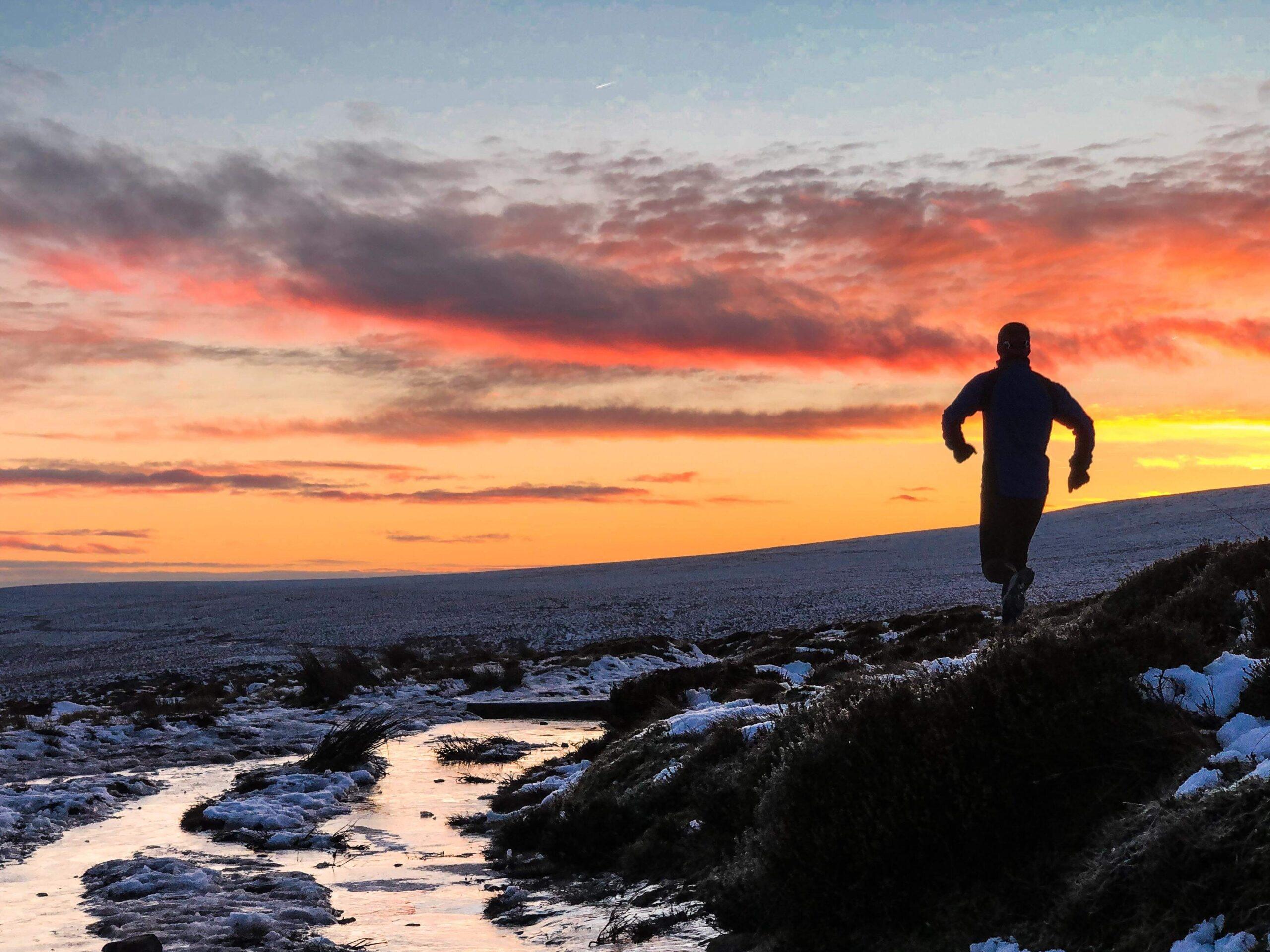 Sunrise run on ice