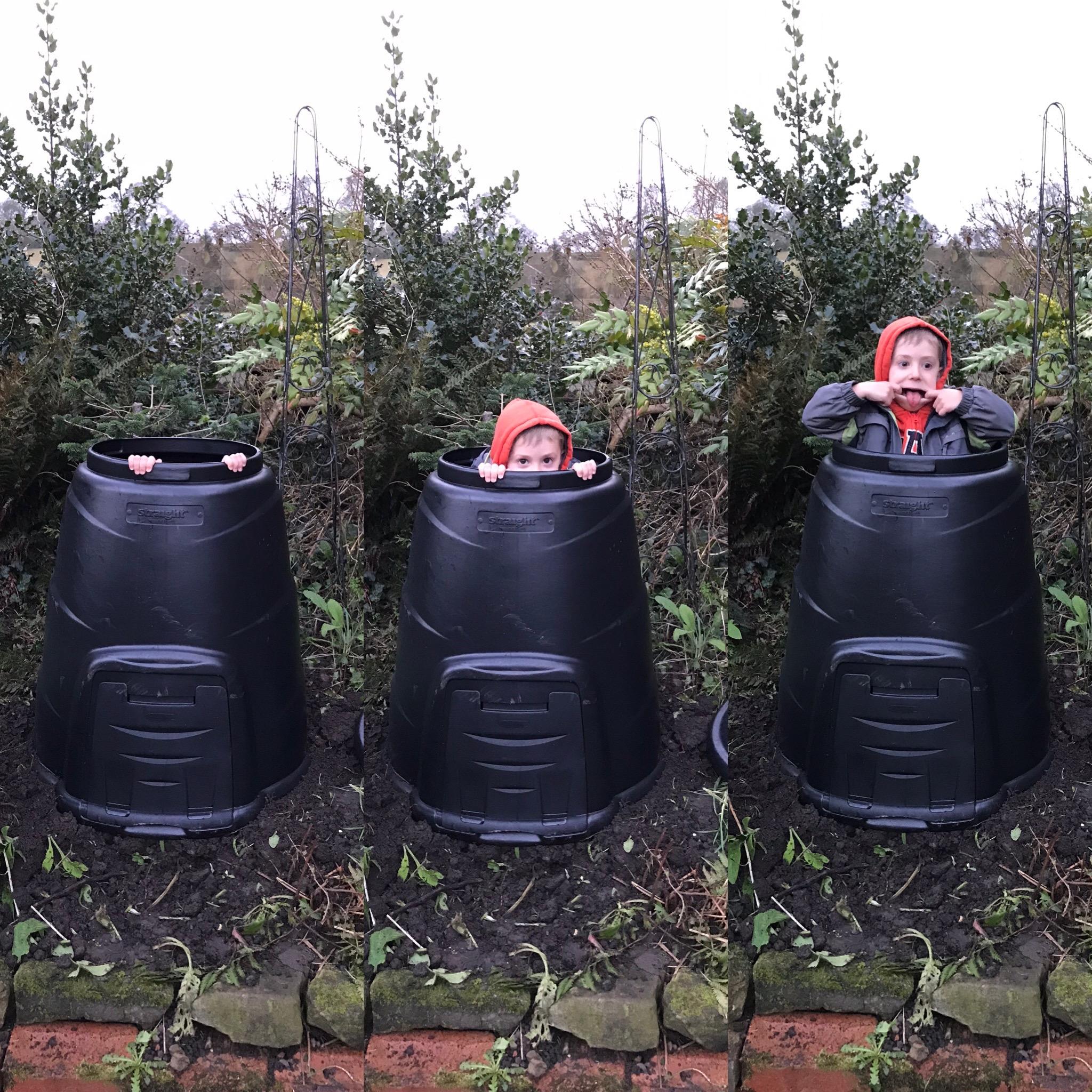 Compost bin hide n seek