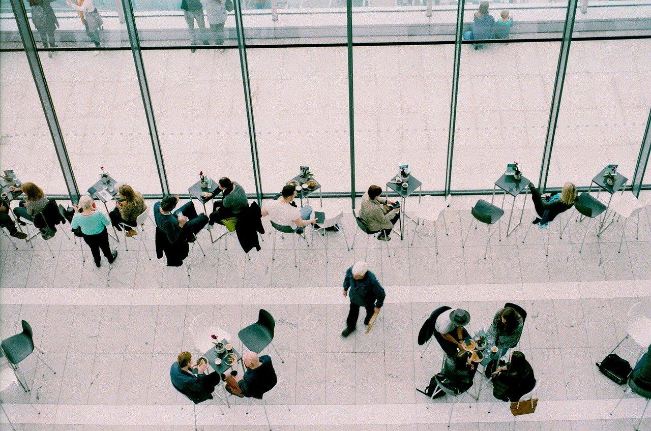 meetings, coffee shop, people