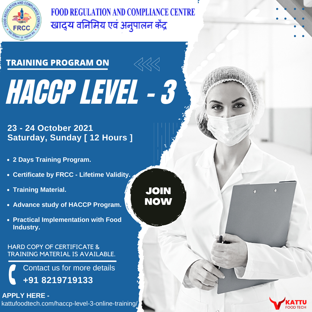 HACCP Level 3 Online Training Program - HACCP Certification