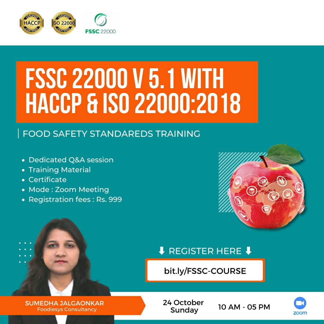 Online Course - FSSC 22000 VERSION 5.1 WITH HACCP & ISO 22000:2018