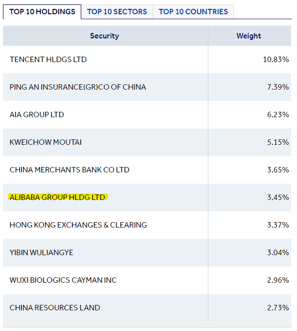 Fund Top 10 Holdings examples