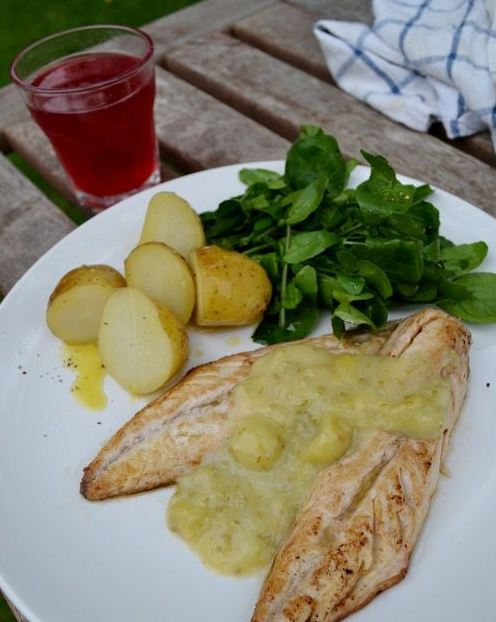 mackerel and gooseberry sauce