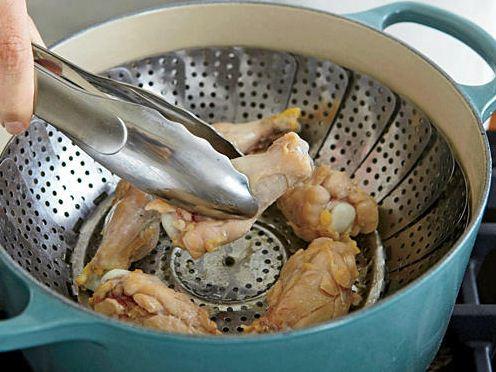 steaming chicken