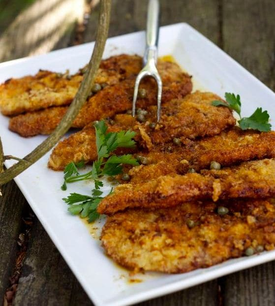 breaded veal cutlet
