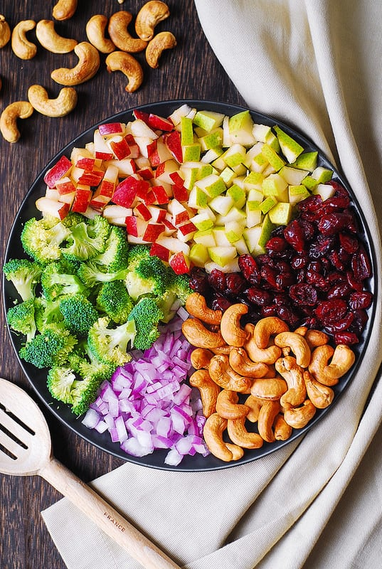 Apple,Cashew,Pear And Broccoli Salad
