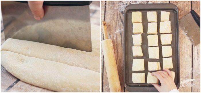 Cutting Dough for Rolls