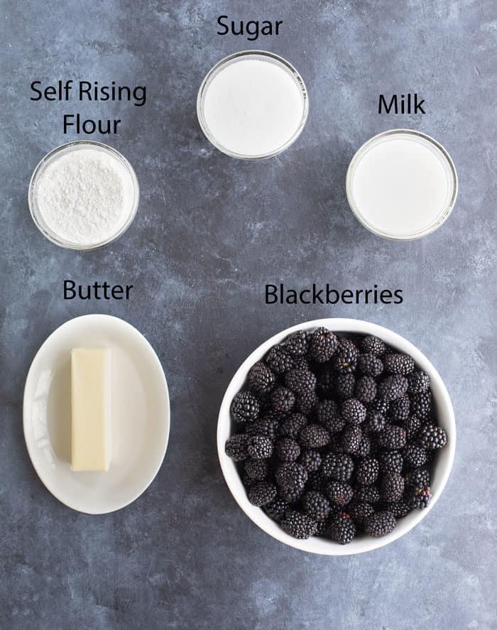 Ingredients-Blackberry-Cobbler