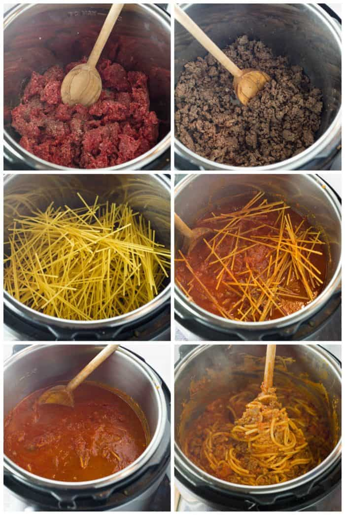 Making-Instant-Pot-Spaghetti-Meat-Sauce