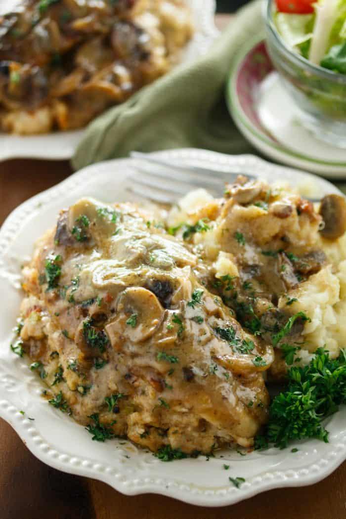 Olive Garden Stuffed Chicken Marsala 2