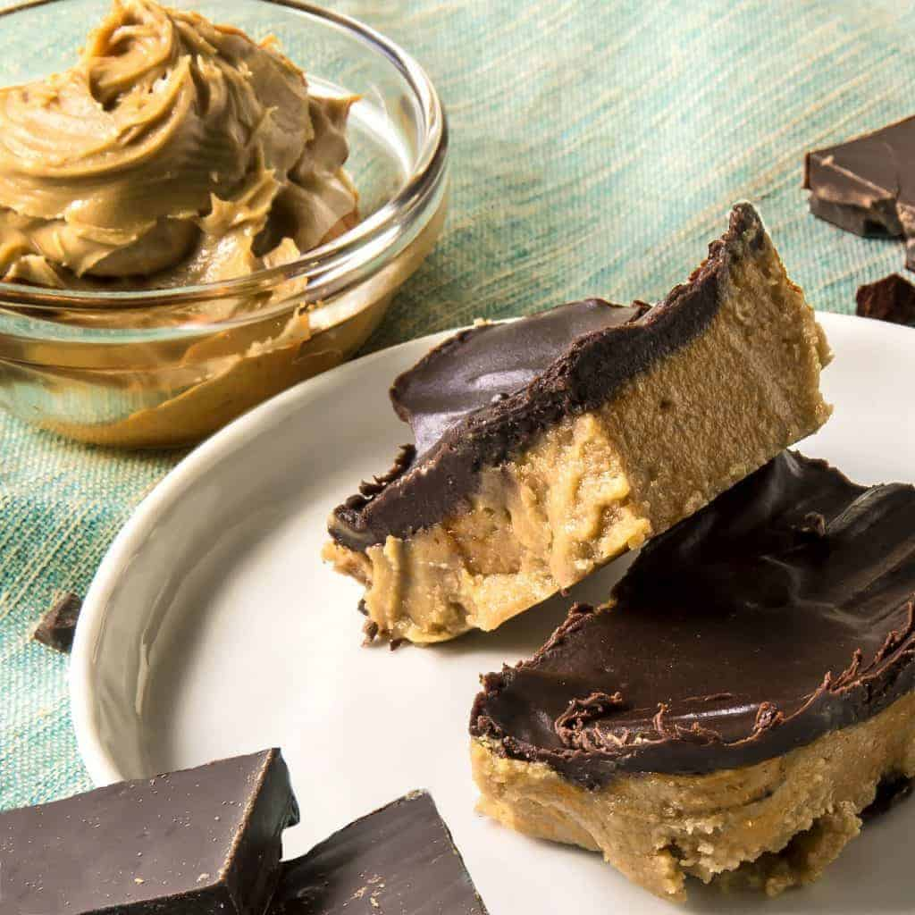 PEANUT BUTTER CHOCOLATE BARS 3
