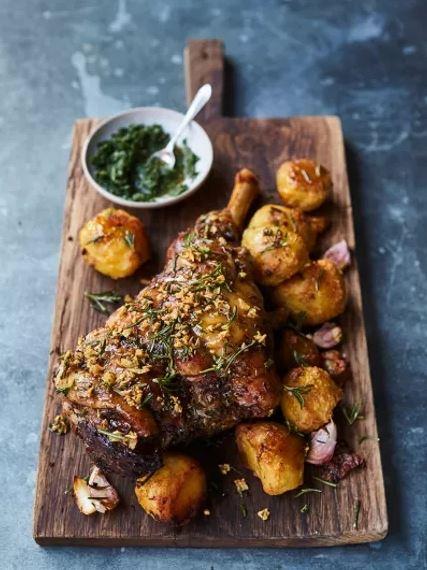 roasted leg of lamb