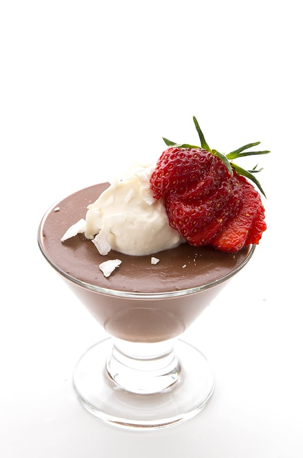 CHOCOLATE COCONUT MILK PUDDING 2