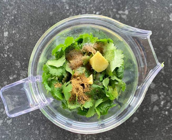 cilantro chutney 4