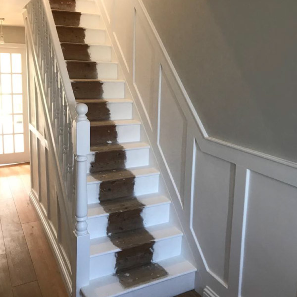 hall & staircase painting after