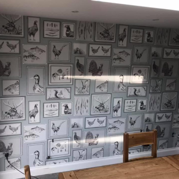 wallpapering after