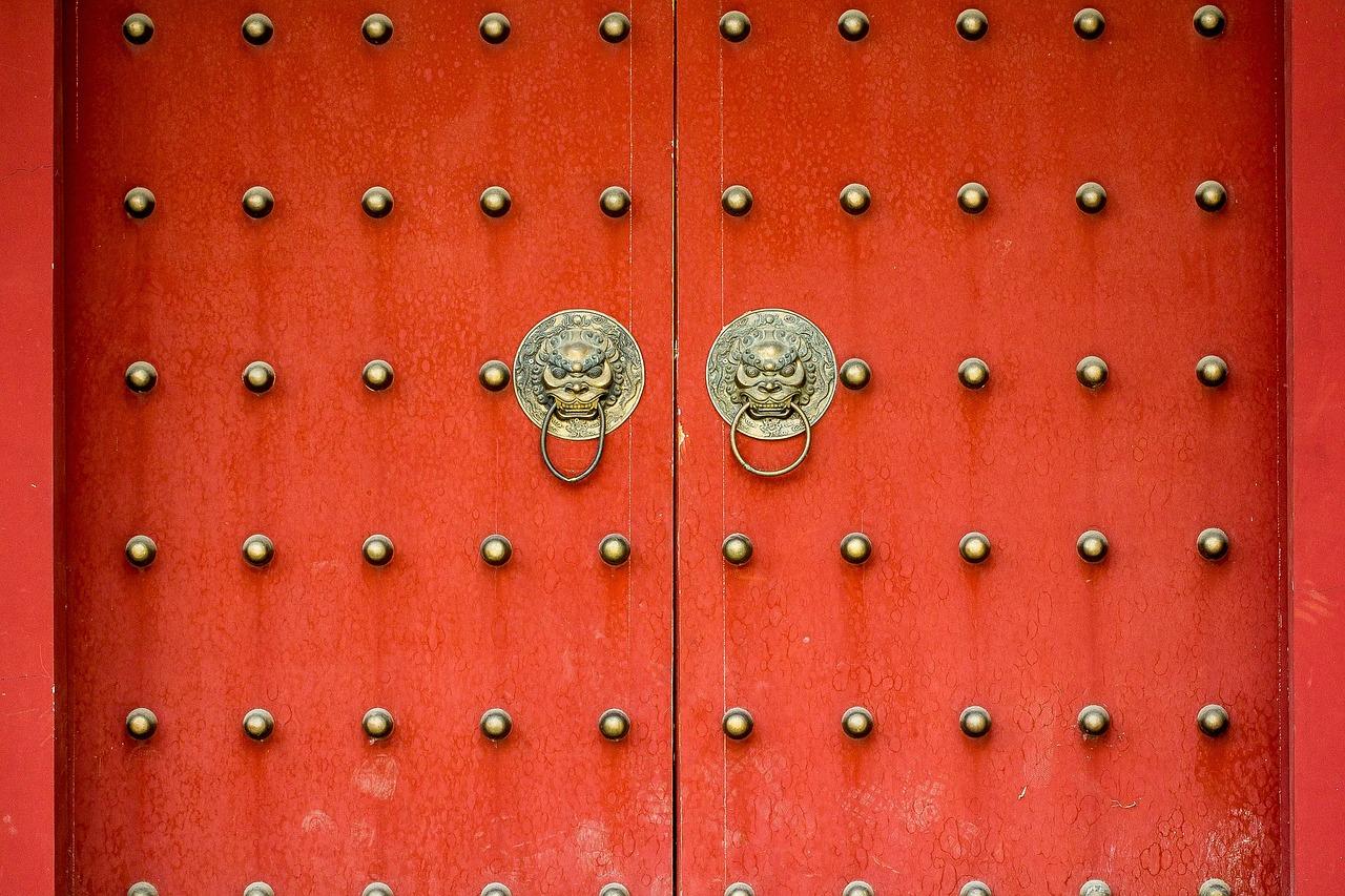 door, ye xian tower, chinese style