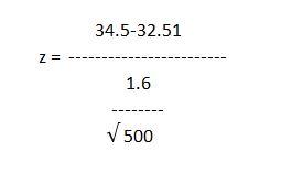 Z score calculation