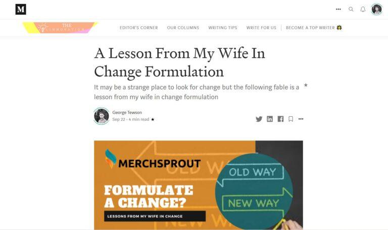 George Tewson The Innovation on Medium