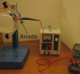 5. Connecting an ammeter in series with anode