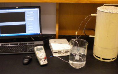 13. Experimenatl setup for demonstarating forced concvection alongwith thermocouple calibration