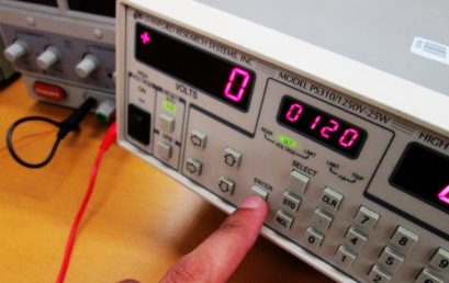 4. Set a value on the high voltage DC supply.