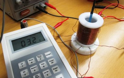 5. Measure the magnetic field inside the coil using a Gauss-meter and its axial probe.