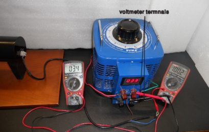 6. Circuitry of the setup. A voltmeter is connected in parallel configuration while an ammeter in series