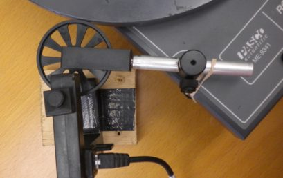 12. Placing a photogate onto the spokes of the super pulley2