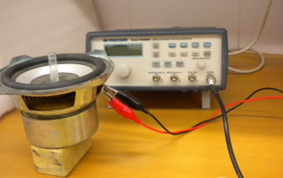 7. Woofer connected to the signal generator