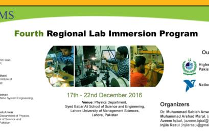 Fourth Regional Lab Immersion Program 2016 (17 December, 2016 – 22 December, 2016)