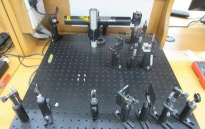 New experiment on quantum erasure for advanced physics lab developed