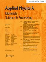 Article published in Applied Physics A Journal