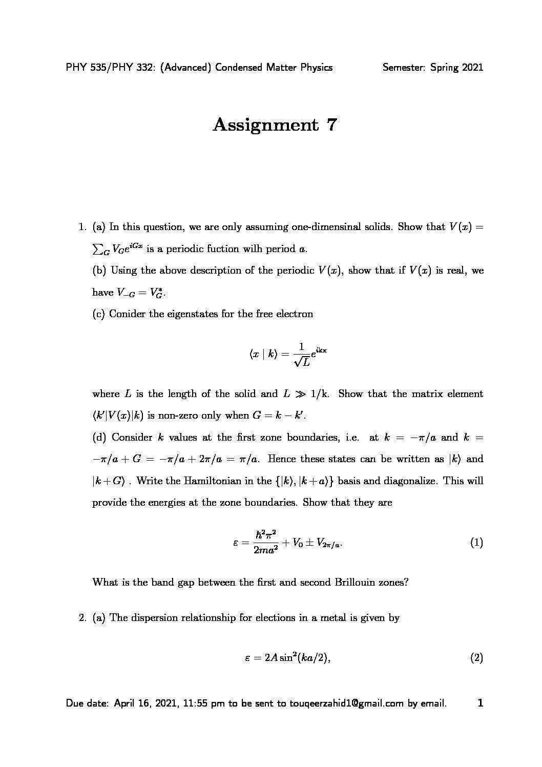 Homework 7