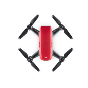 dji spark in lava red