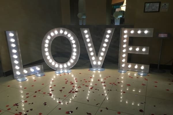 GIANT LOVE Sign offers for hire
