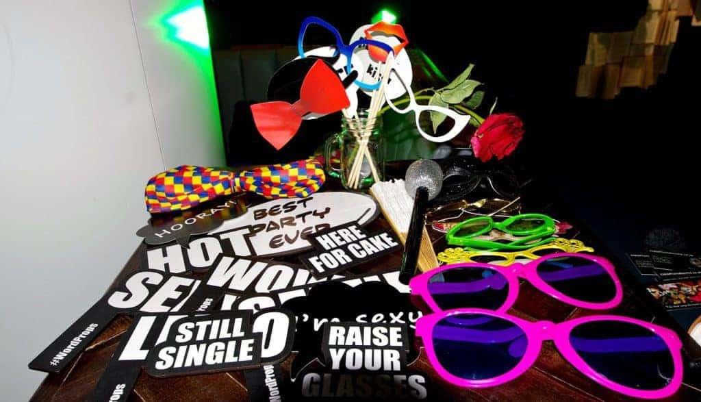 Props for free at photo booth hire London