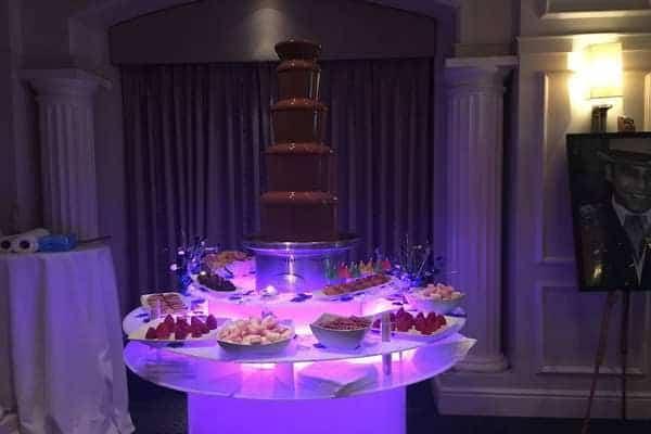 Chocolate Fountain to hire with belgium Chocolate