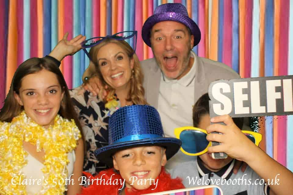 Photo Booth for a 50th Birthday party in Teddington