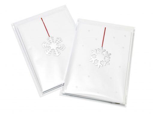 Angela Cork Silver Christmas Card Decorations
