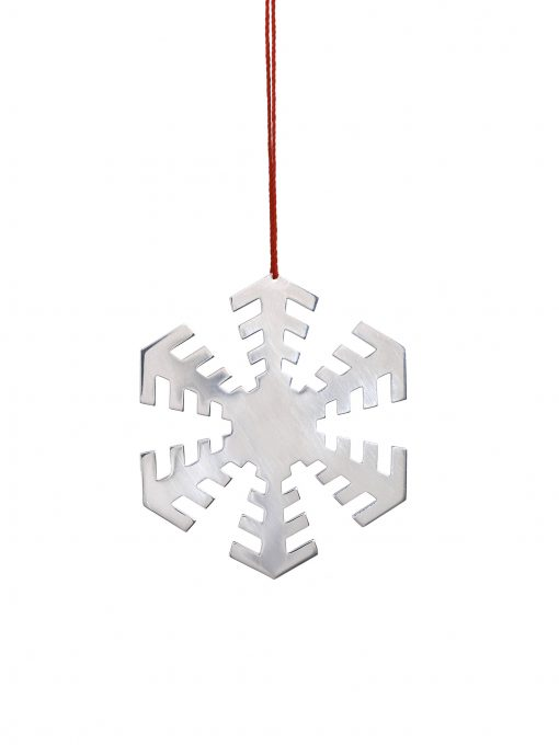 Silver 'Disco' Snowflake Decoration