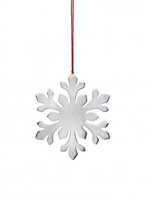 Silver Flowery Snowflake Decoration